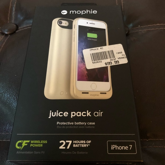 cheaper a6ace 9e383 Mophie Juice Pack Air iPhone 7 Gold NWT NWT